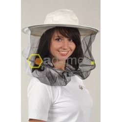 Kapelusz pszczelarski z siatką i drutem dookoła