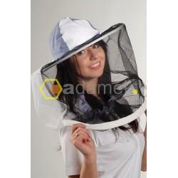 Kapelusz pszczelarski otwierany górą z drutem z przodu